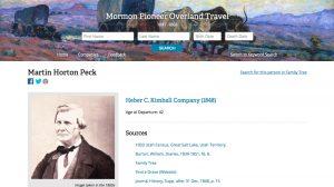 Mormon Pioneer Overland Travel