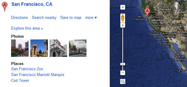 Convert < address > tags into Google Map link using jQuery
